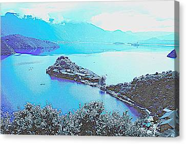 Scene Canvas Print - Rigby Island Sunny Days Lugu Lake China by Celestial Images
