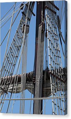 Rigging Aboard The Galeon Canvas Print by Dale Kincaid