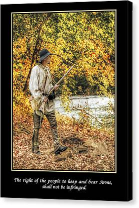 Right To Keep And Bear Arms Poster Canvas Print by Randy Steele