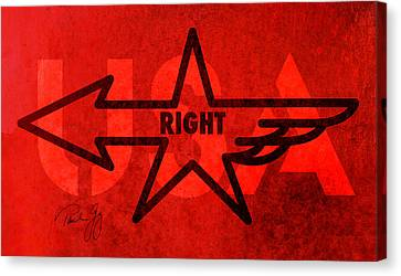 Right Wing Canvas Print by Paul Gaj