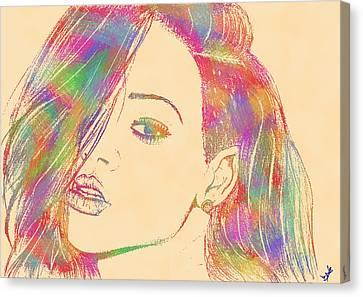 Rihanna 2 Canvas Print by Branislav Djuric