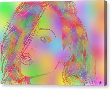 Rihanna 4 Canvas Print by Branislav Djuric