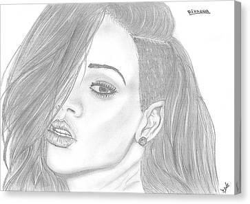 Rihanna Canvas Print by Branislav Djuric