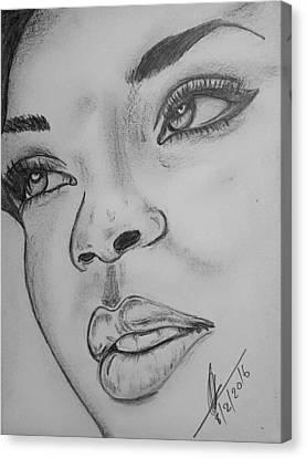 Rihanna Canvas Print by Collin A Clarke