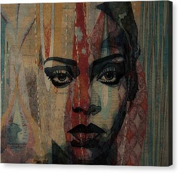 Rihanna Canvas Print - Rihanna - Diamonds by Paul Lovering