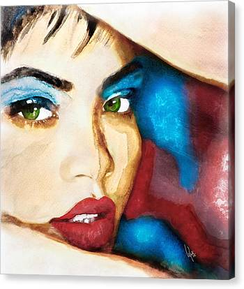 Rihanna Like A Diamond Canvas Print by Vya Artist