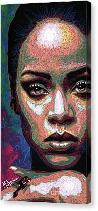 Rihanna Canvas Print by Maria Arango