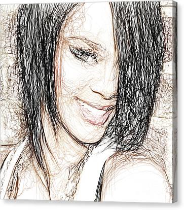 Rihanna  Canvas Print by Raina Shah