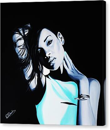 Rihanna Canvas Print by Richard Garnham