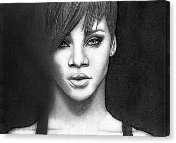 Rihanna Canvas Print by Rikke MY