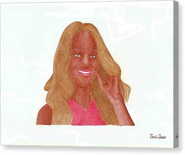Rihanna Canvas Print by Toni Jaso