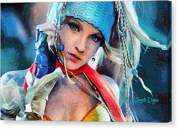 Rikku Final Fantasy  - Camille Style -  - Da Canvas Print by Leonardo Digenio