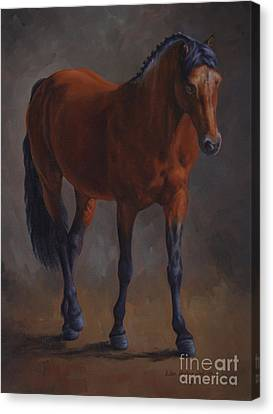 Bay Horse Canvas Print - Riley by Lisa Phillips Owens