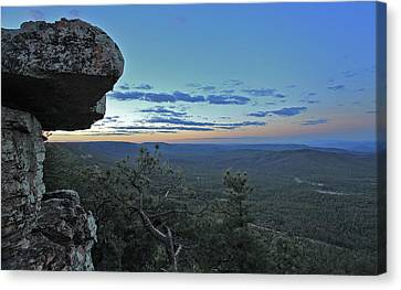 Canvas Print featuring the photograph Rim Daybreak by Gary Kaylor