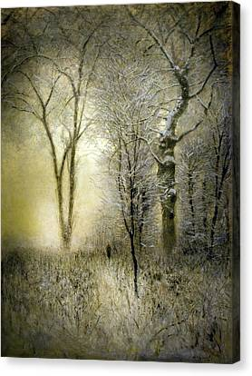 Rimy Forest Windy Daybreak By Laszlo Mednyanszky 1896 Canvas Print
