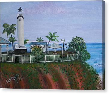 Rincon's Lighthouse Canvas Print by Gloria E Barreto-Rodriguez