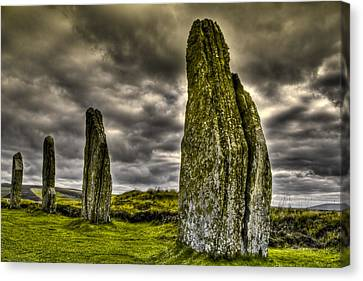 Ring Of Brodgar Orkney Canvas Print by Gabor Pozsgai