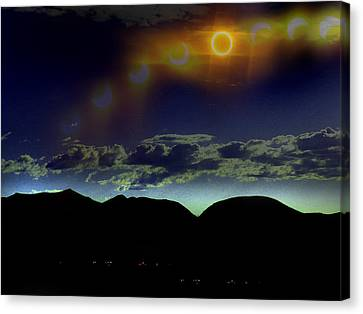 Ring Of Fire Canvas Print by Chad Rice