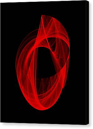 Canvas Print featuring the digital art Ring Unraveling I by Robert Krawczyk