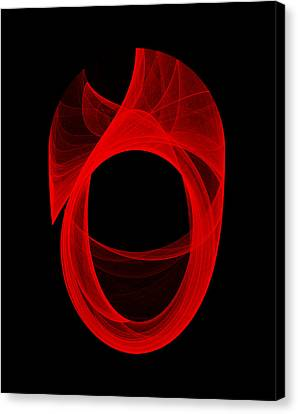Canvas Print featuring the digital art Ring Unraveling II by Robert Krawczyk