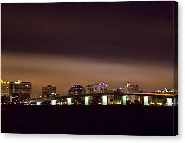 Ringling Bridge And Sarasota Canvas Print