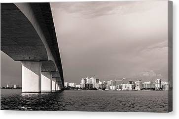 Ringling Bridge Canvas Print by Clay Townsend