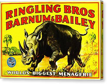 Ringling Brothers Barnum And Bailey Circus Canvas Print