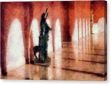 Ringling Hallway Canvas Print by Terry Davis
