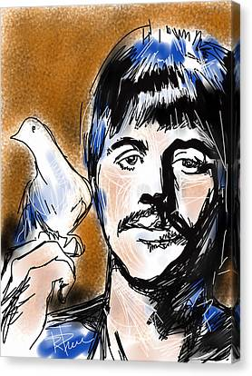 Ringo Canvas Print by Russell Pierce