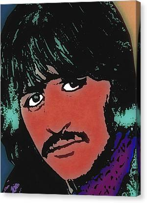 Ringo Starr-coloured Canvas Print by Otis Porritt