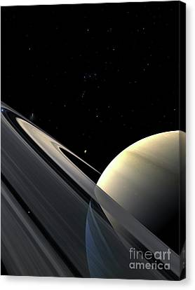 Rings Of Saturn Canvas Print by Fahad Sulehria