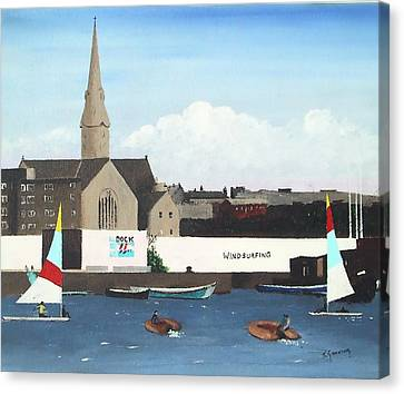 The Grand Place Canvas Print - Ringsend Surfdock by Tony Gunning
