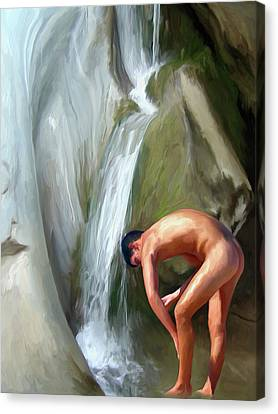 Rinsing Off Canvas Print by Snake Jagger