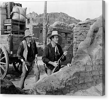 1950s Movies Canvas Print - Rio Bravo, Walter Brennan, John Wayne by Everett