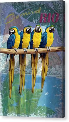 Tropical Bird Postcards Canvas Print - Rio by Brian McCarthy