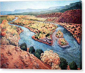 Rio Chama At Abiquiu Canvas Print by Donna Clair