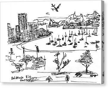 Rio De Janeiro, Botafogo. 12 Febriary, 2016 Canvas Print