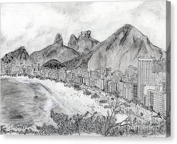 Dois Irmaos Canvas Print - Rio De Janeiro by Carol Morris