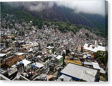 Rio De Janeiro Favela - South America Canvas Print by Jon Berghoff