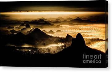 Dois Irmaos Canvas Print - Rio De Janeiro Landscape by Cesar Okada