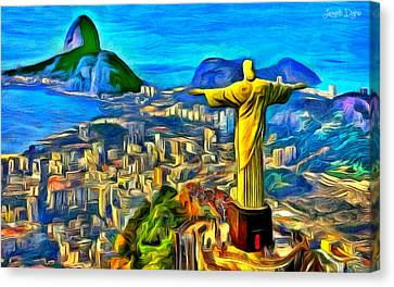 Rio De Janeiro - Pa Canvas Print by Leonardo Digenio