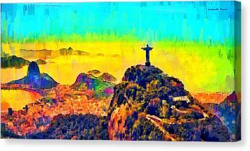 Rio De Janeiro Panoramic 2 - Pa Canvas Print by Leonardo Digenio