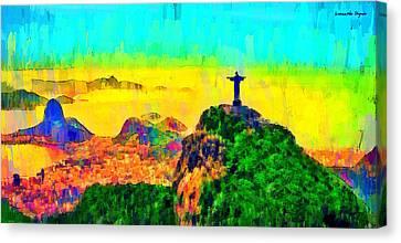 Rio De Janeiro Panoramic 3 - Da Canvas Print by Leonardo Digenio