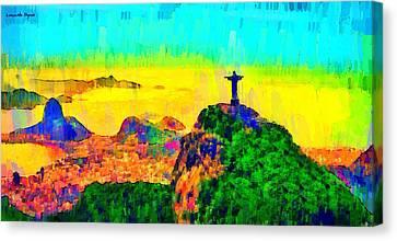 Rio De Janeiro Panoramic 4 - Pa Canvas Print by Leonardo Digenio