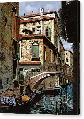 Canal Canvas Print - Rio Degli Squeri by Guido Borelli