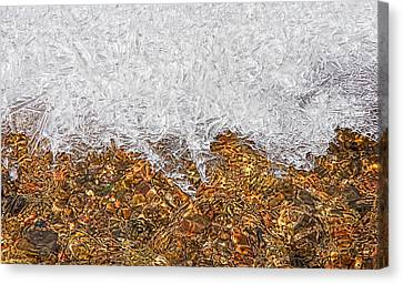 Rio Embudo Ice Canvas Print by Britt Runyon