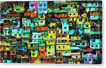 Mountain Canvas Print - Rio Favela 3 - Da by Leonardo Digenio