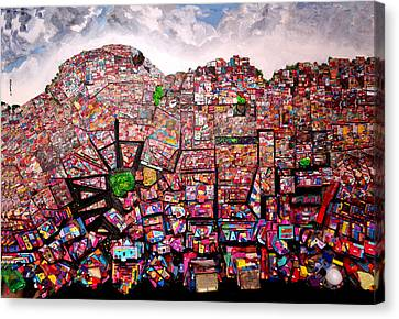 Rio Favelas Canvas Print by Robert Handler