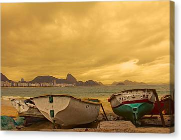 Canvas Print featuring the photograph Rio Fishing Boats by Kim Wilson