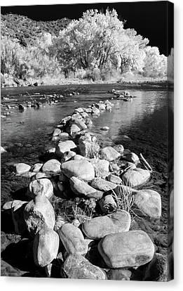 Canvas Print featuring the photograph Rio Grande-infrared by Britt Runyon